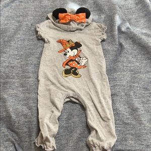 Baby Girl's Disney Halloween Onesie with Hood